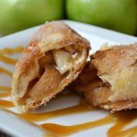 Air Fryer Caramel Apple Pie Flautas
