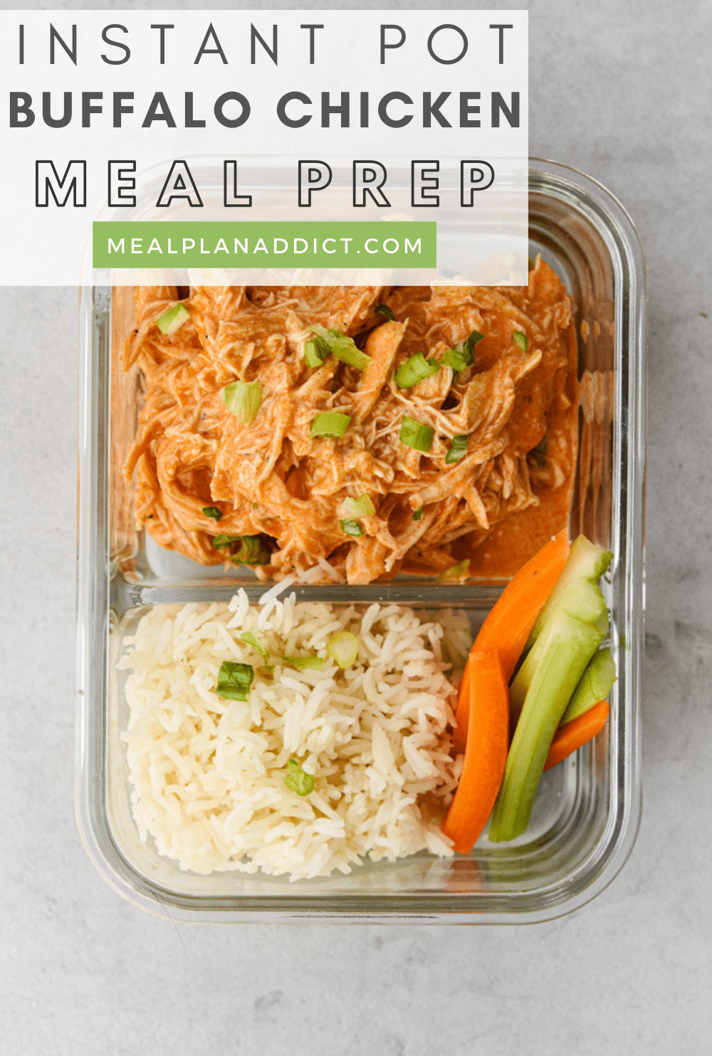 How to Meal Prep Instant Pot Buffalo Chicken | Meal Plan Addict