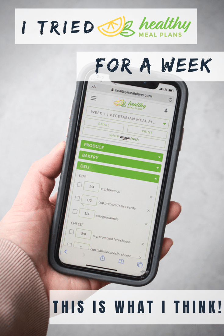 I tried healthy meal plans for a week