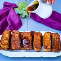 Easy Air Fryer French Toast Sticks + {VIDEO}