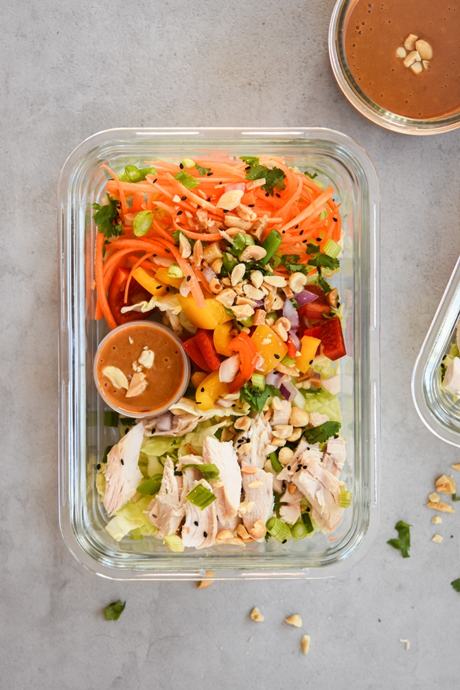 asian chicken chopped salad single container