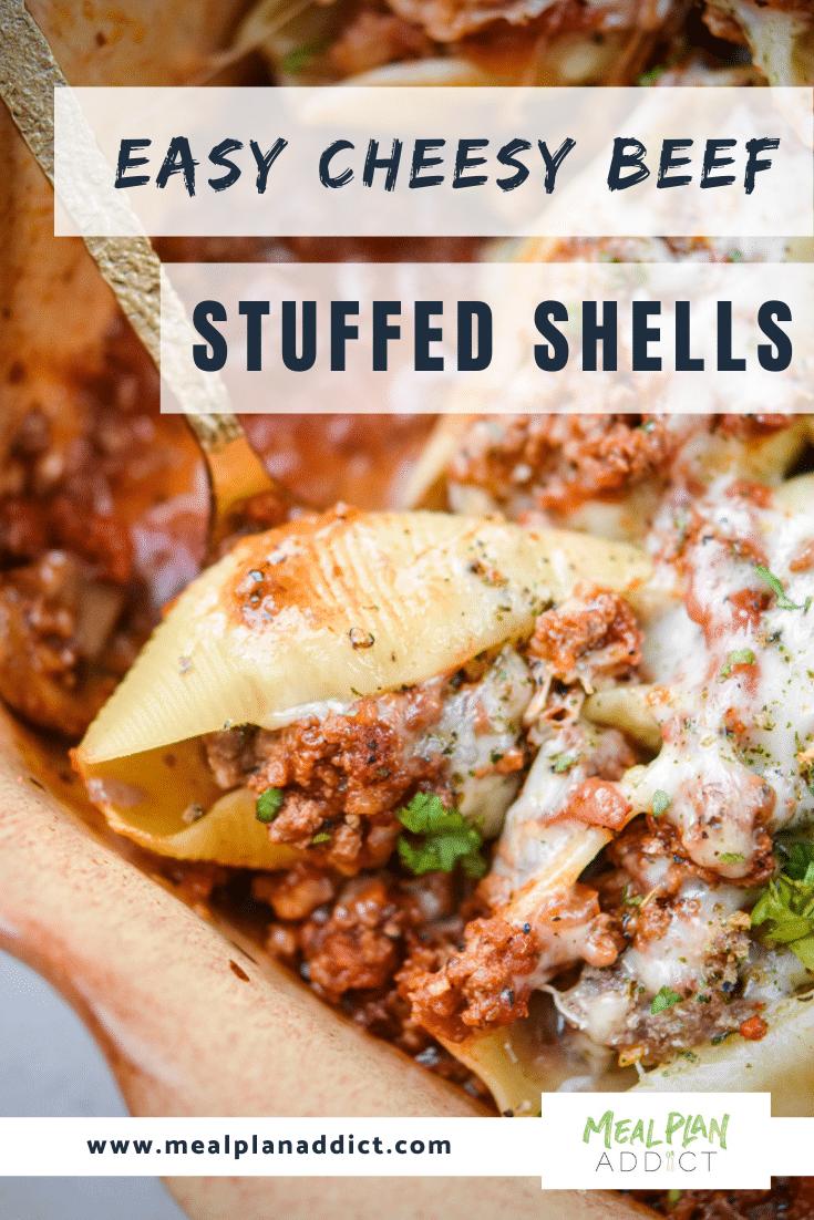 easy cheesy beef stuffed shells