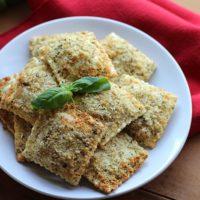 Perfectly crisp vegan fried ravioli in the air fryer