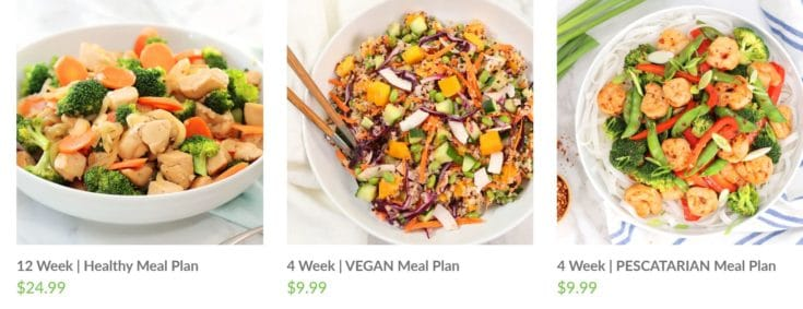 healthy meal plans pre made specialty plans