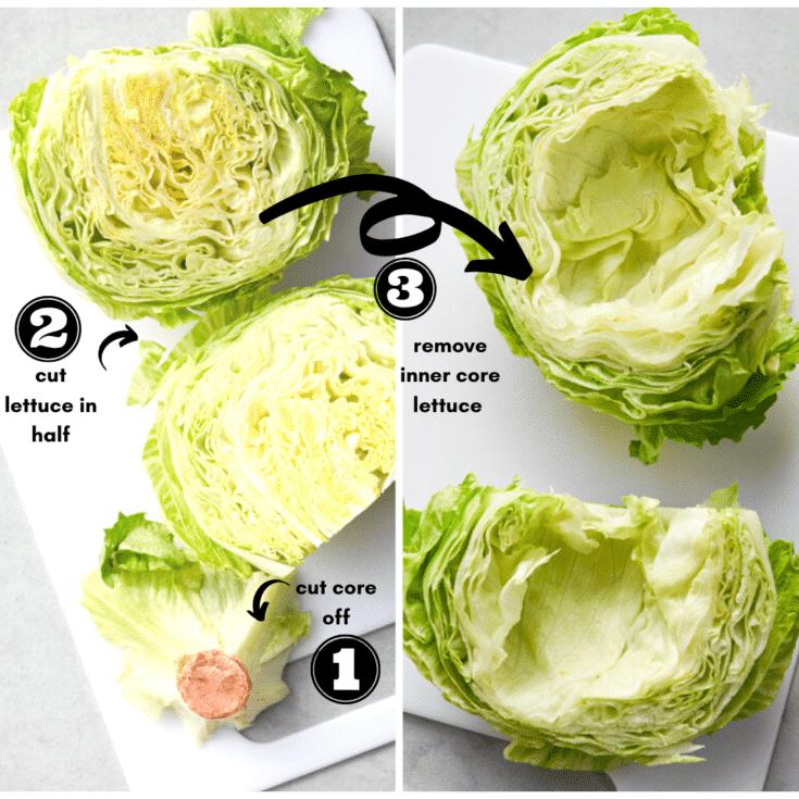 how to prep lettuce wraps