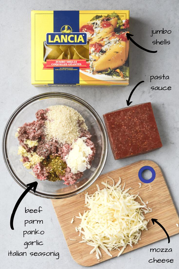 stuffed beef shells ingredients