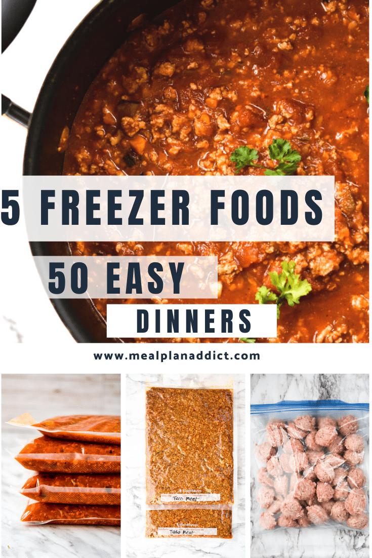 5 freezer foods 50 easy dinners