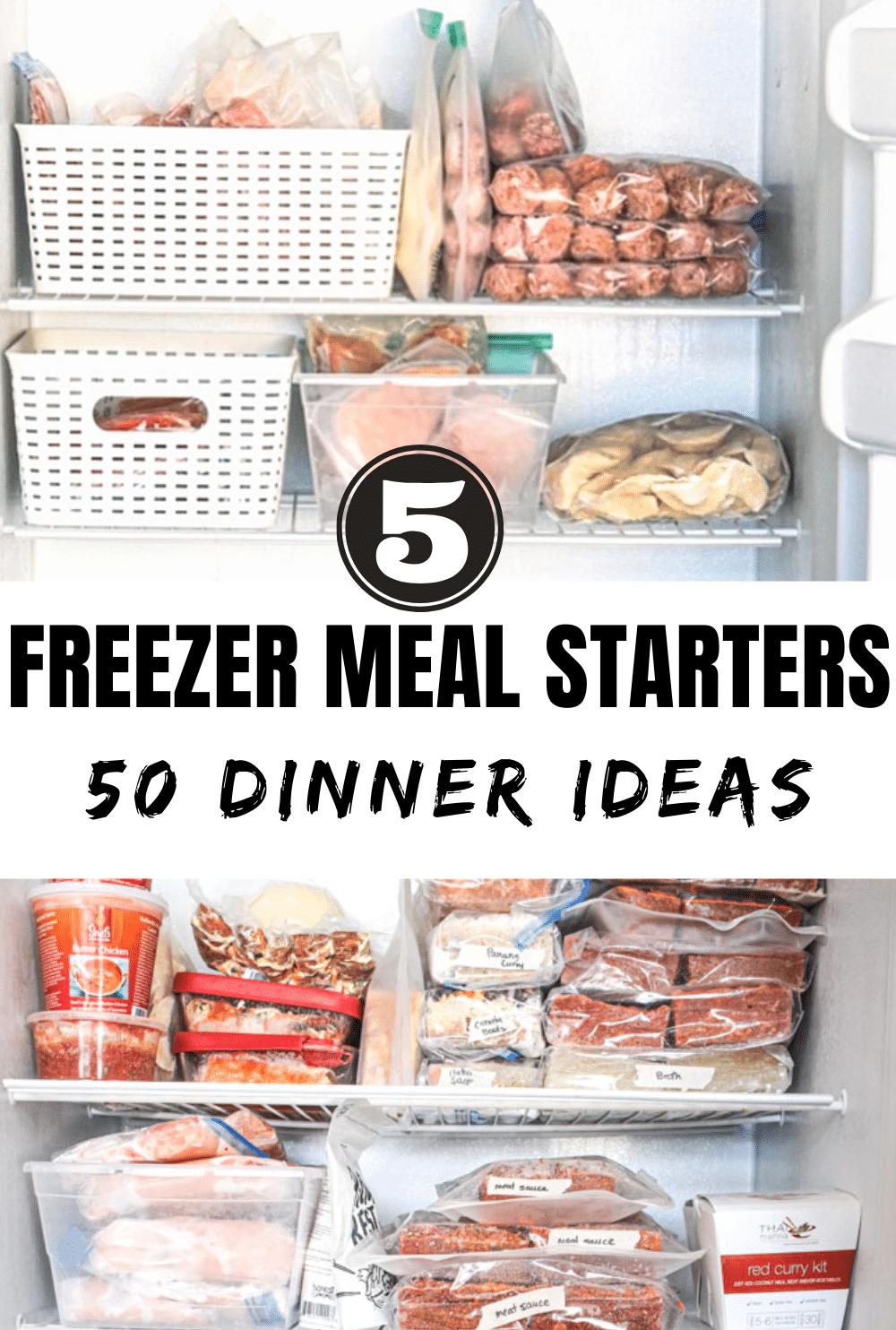 5 freezer meal starters 50 dinner ideas