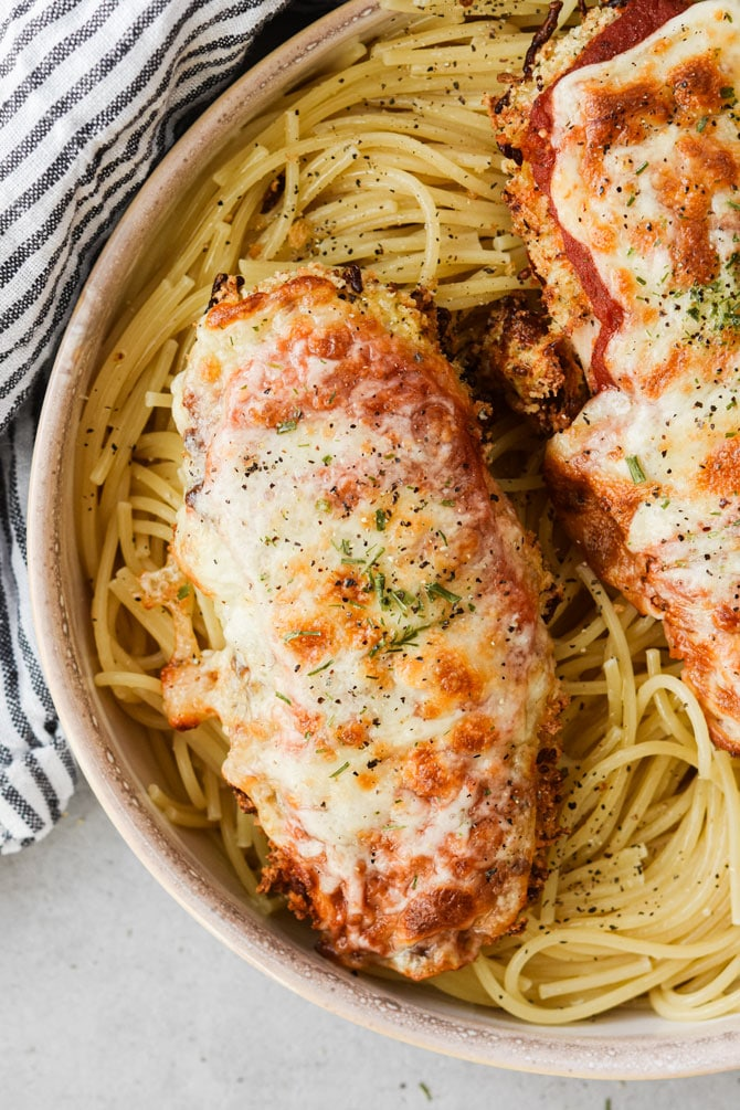 Chicken parm plated no fork