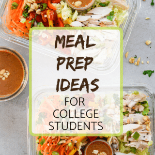 meal prep ideas for college students