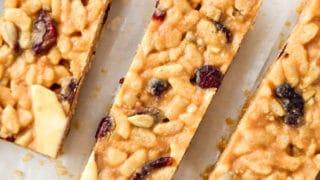 Peanut Butter Rice Krispie Breakfast Bars