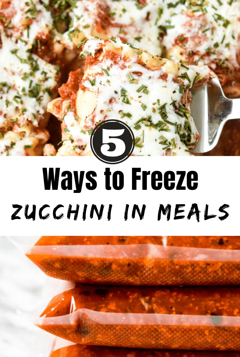 5 Ways to Freeze Zucchini in Meals