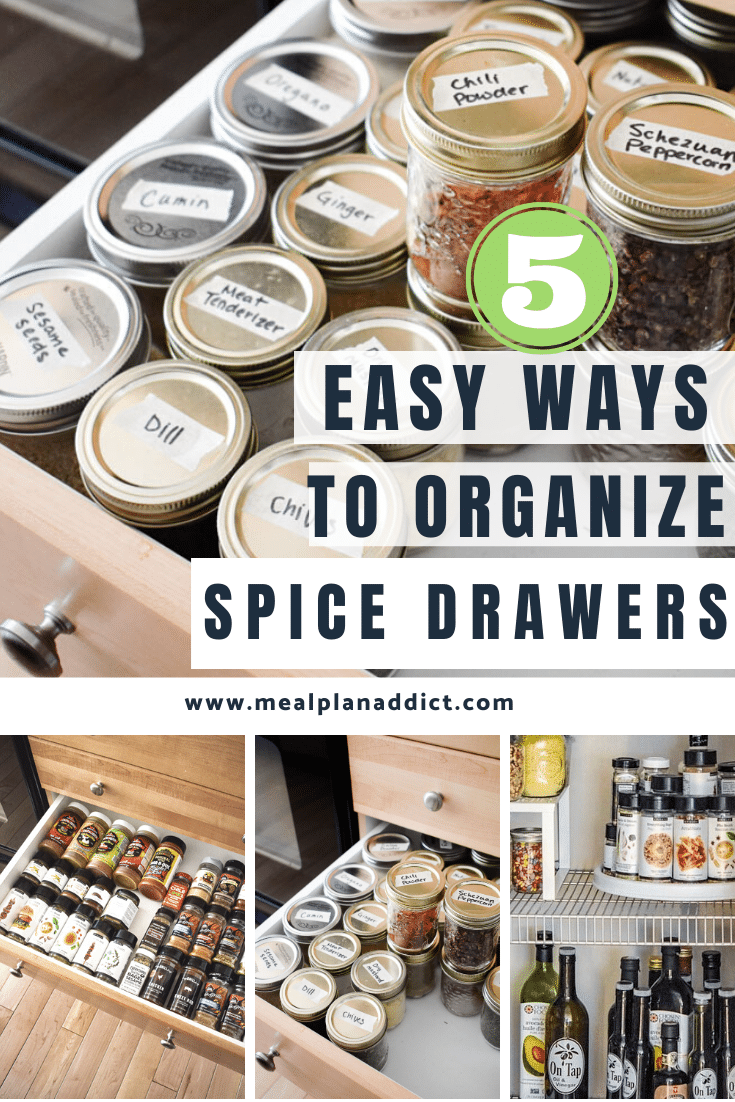 5 easy ways to organize spice drawers