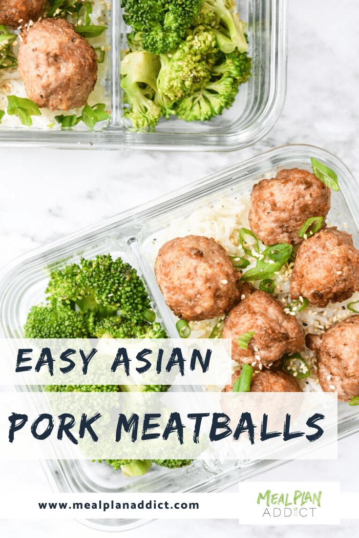 Easy Asian Pork Meatballs