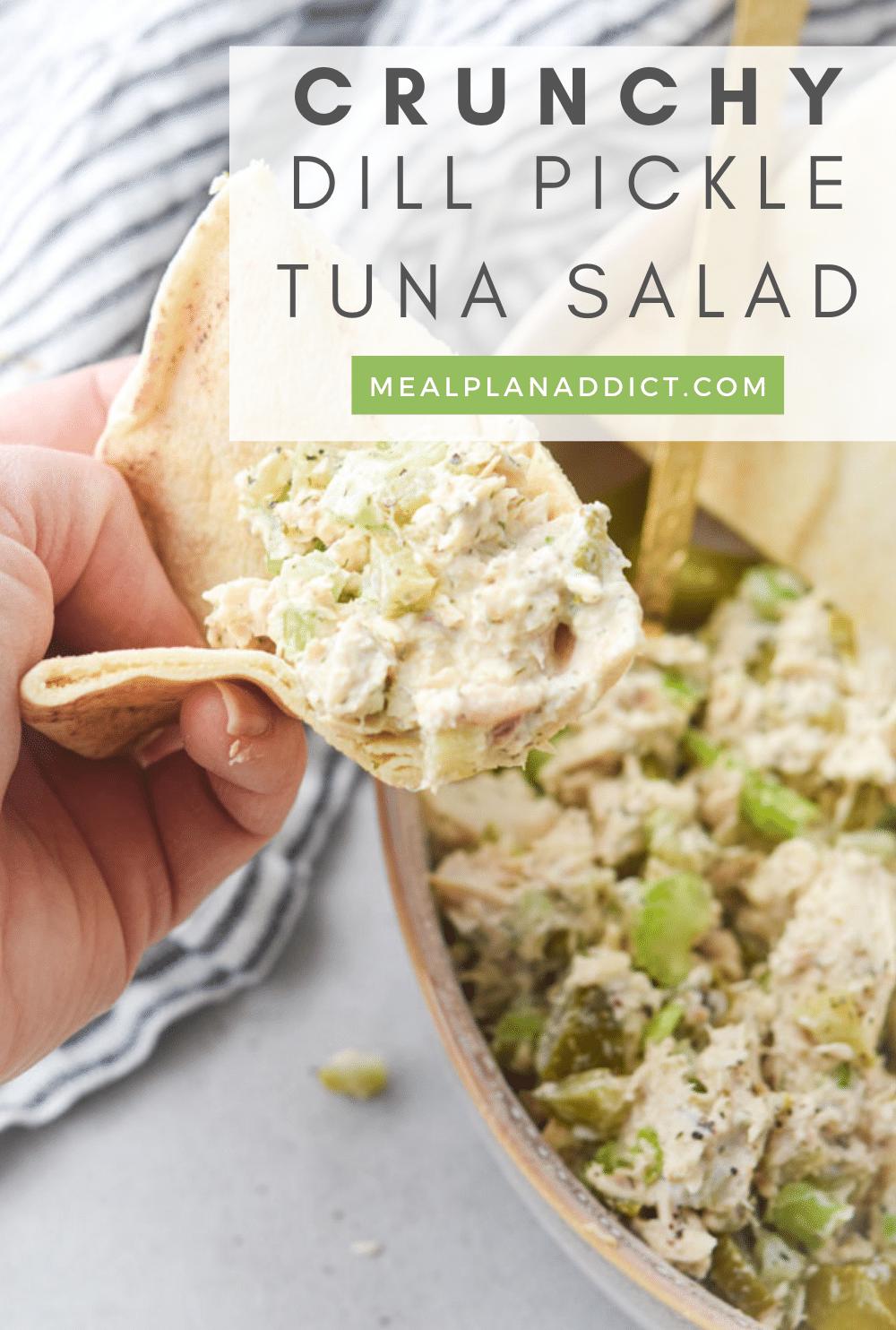 Tuna salad pin for Pinterest
