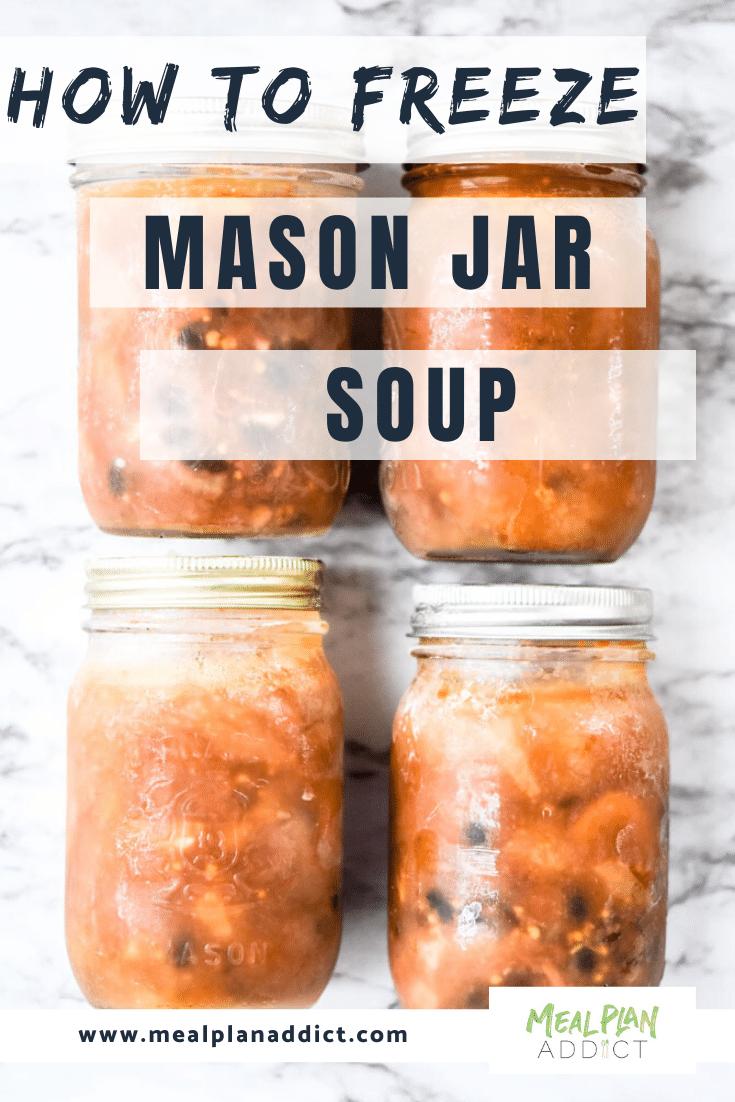 How to Freeze mason jar soup