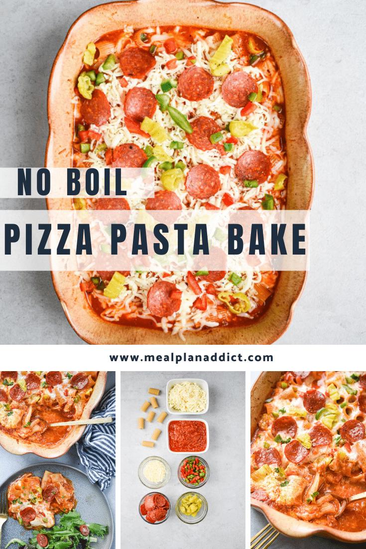 no boil pizza pasta bake