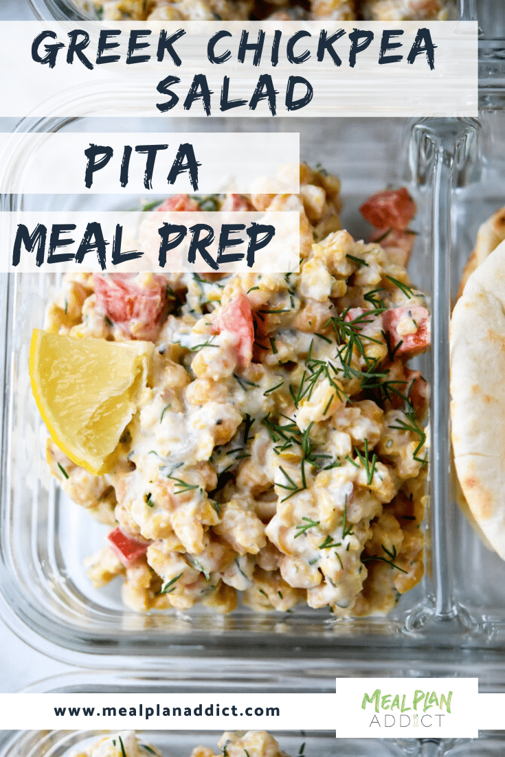 Greek Chickpea Salad Pita Meal Prep