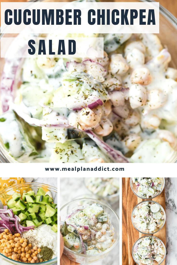 Prep Ahead Cucumber Chickpea Salad