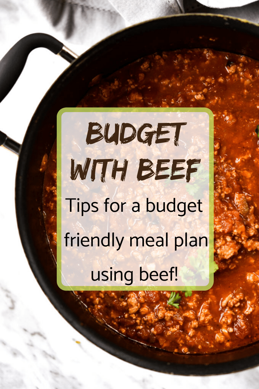 budget with beef cover image with meat sauce in a pot