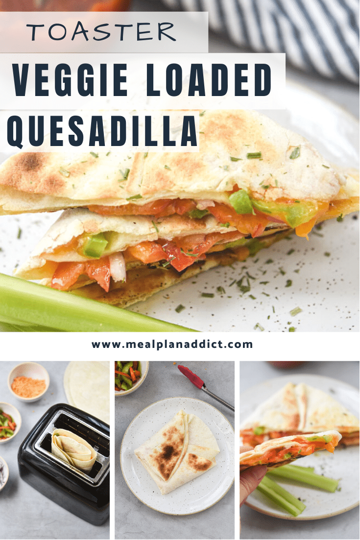pinterest collage of various images of quesadilla