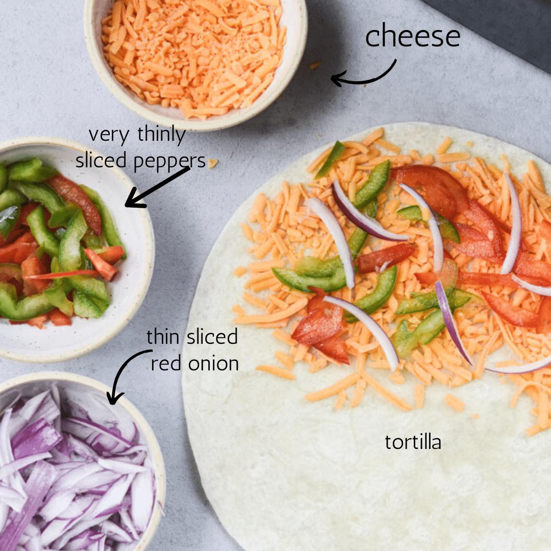 veggie quesadilla ingredients