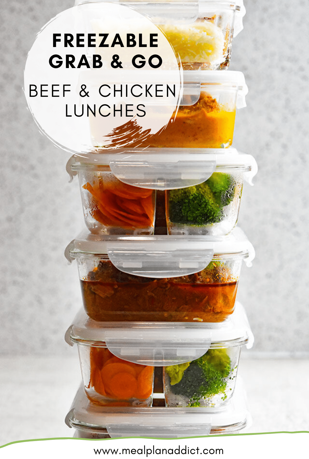 Freezable Grab & Go Beef & Chicken Lunches