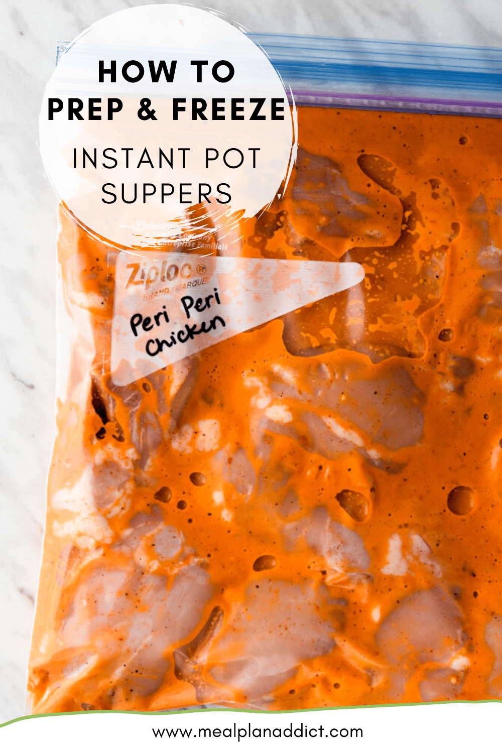 How to prep & freeze Instant Pot suppers
