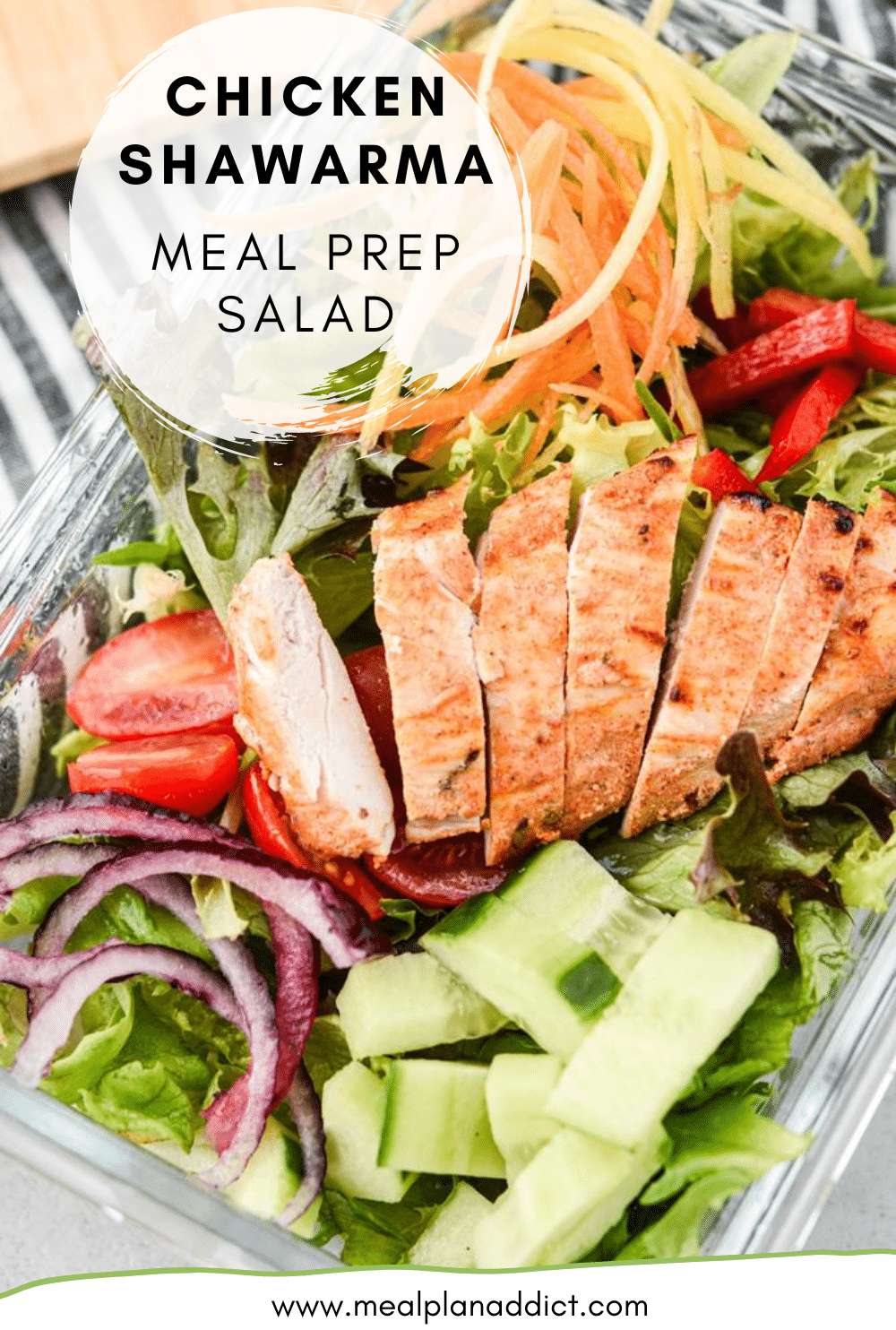 Chicken Shawarma Meal Prep Salad