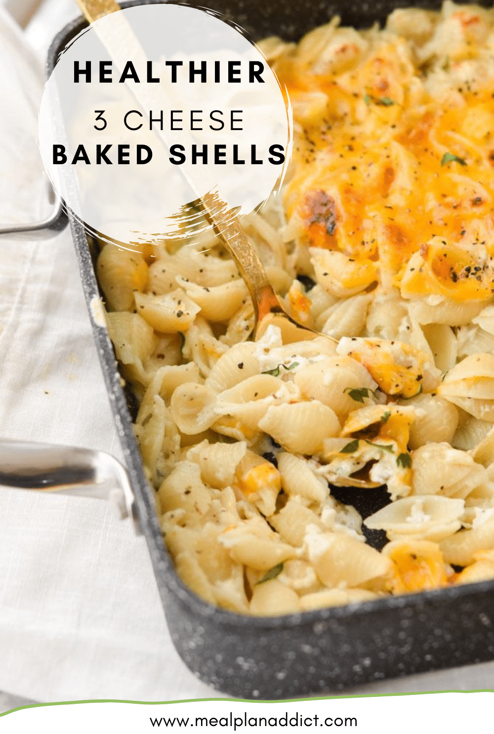 Healthier 3 Cheese Baked Shells