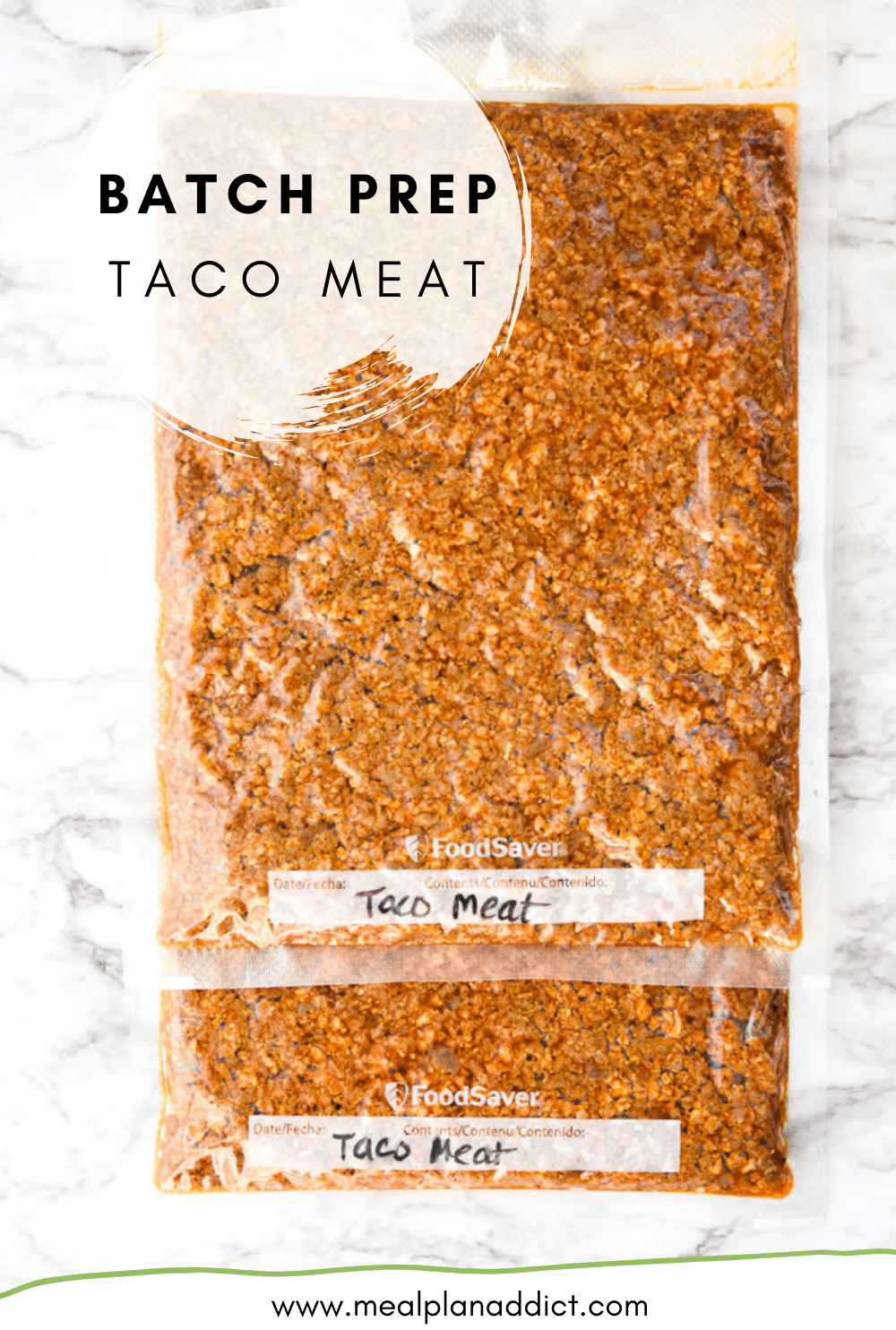 Batch Prep Taco Meat