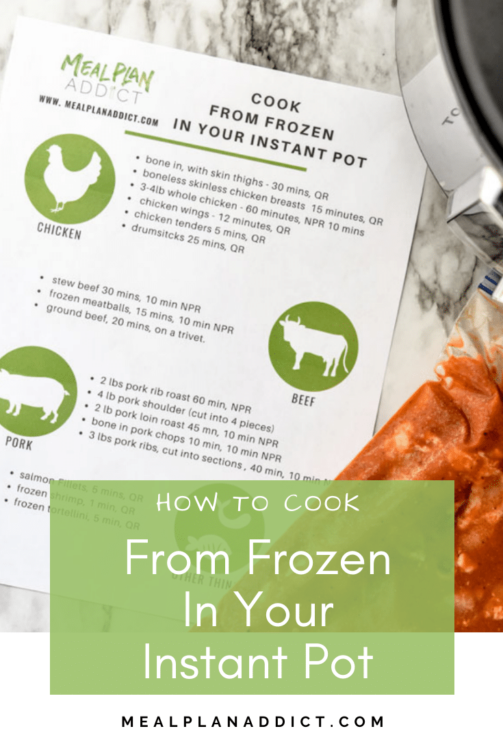 How to Cook from Frozen in your Instant Pot