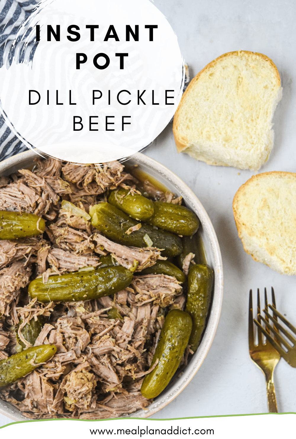 INSTANT POT DILL PICKLE BEEF plated