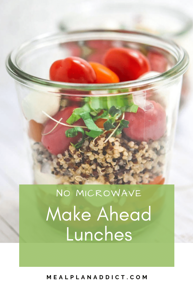 No Microwave make ahead lunches