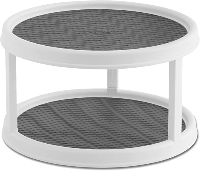2-Tier Lazy Susan Turntable, 12-Inch