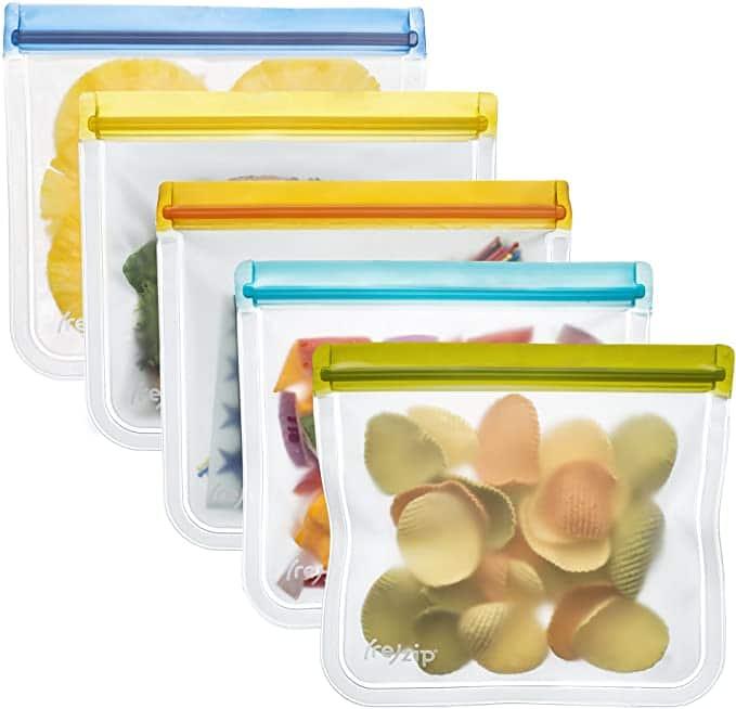 Rezip Flatlay Bags, 5 pack