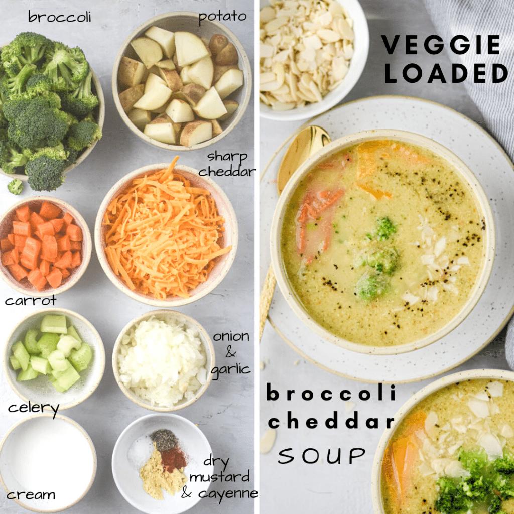 veggie loaded broccoli cheddar soup ingredient list