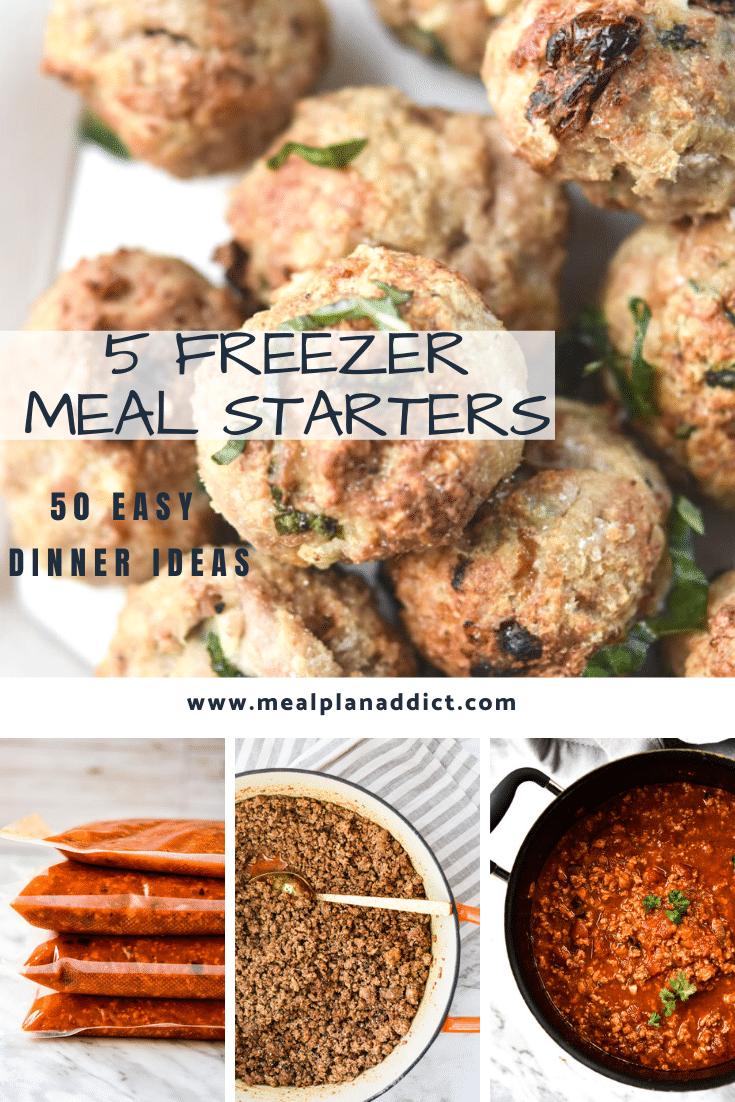 5 Freezer Meal Starters
