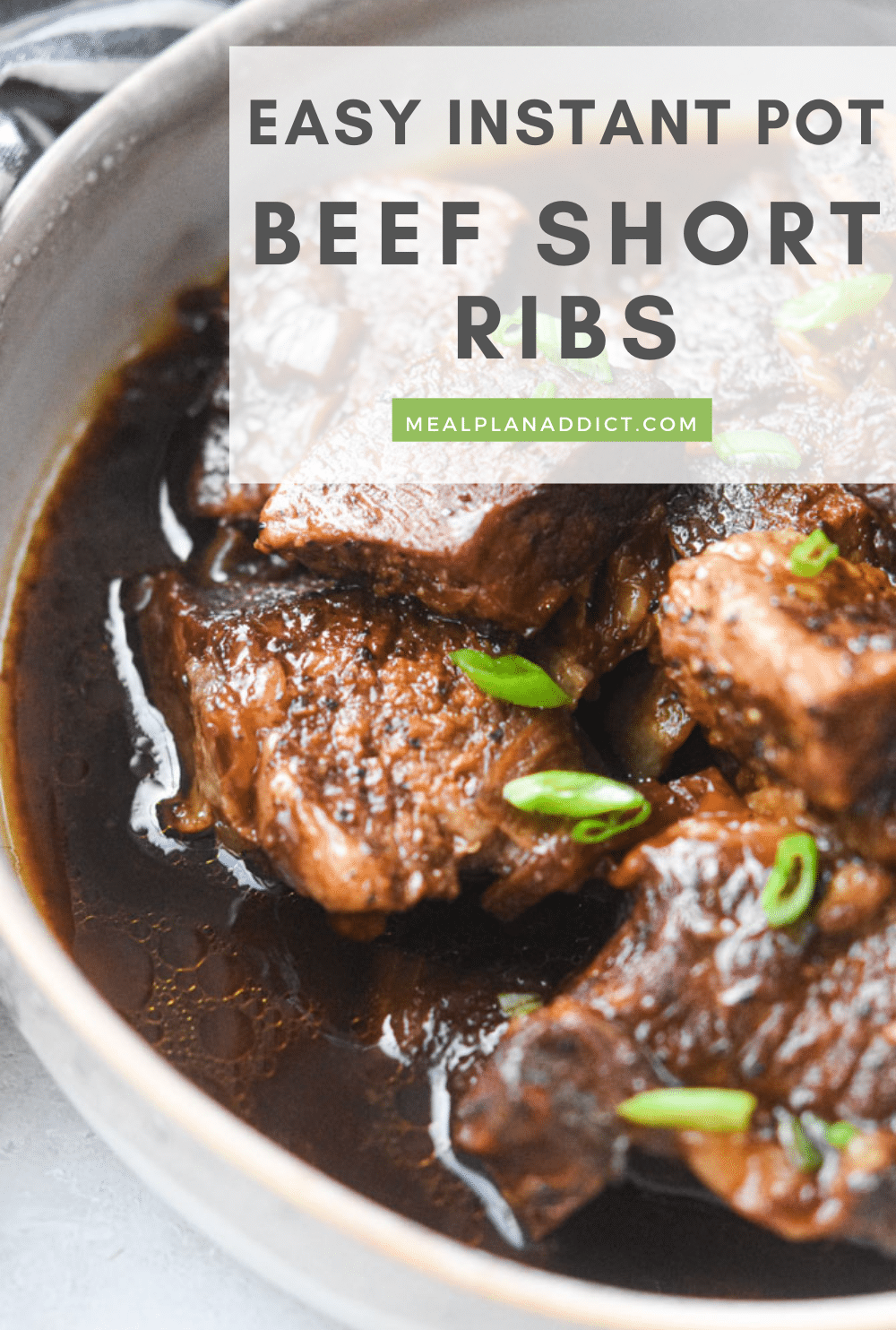 Beef short ribs pin for Pinterest