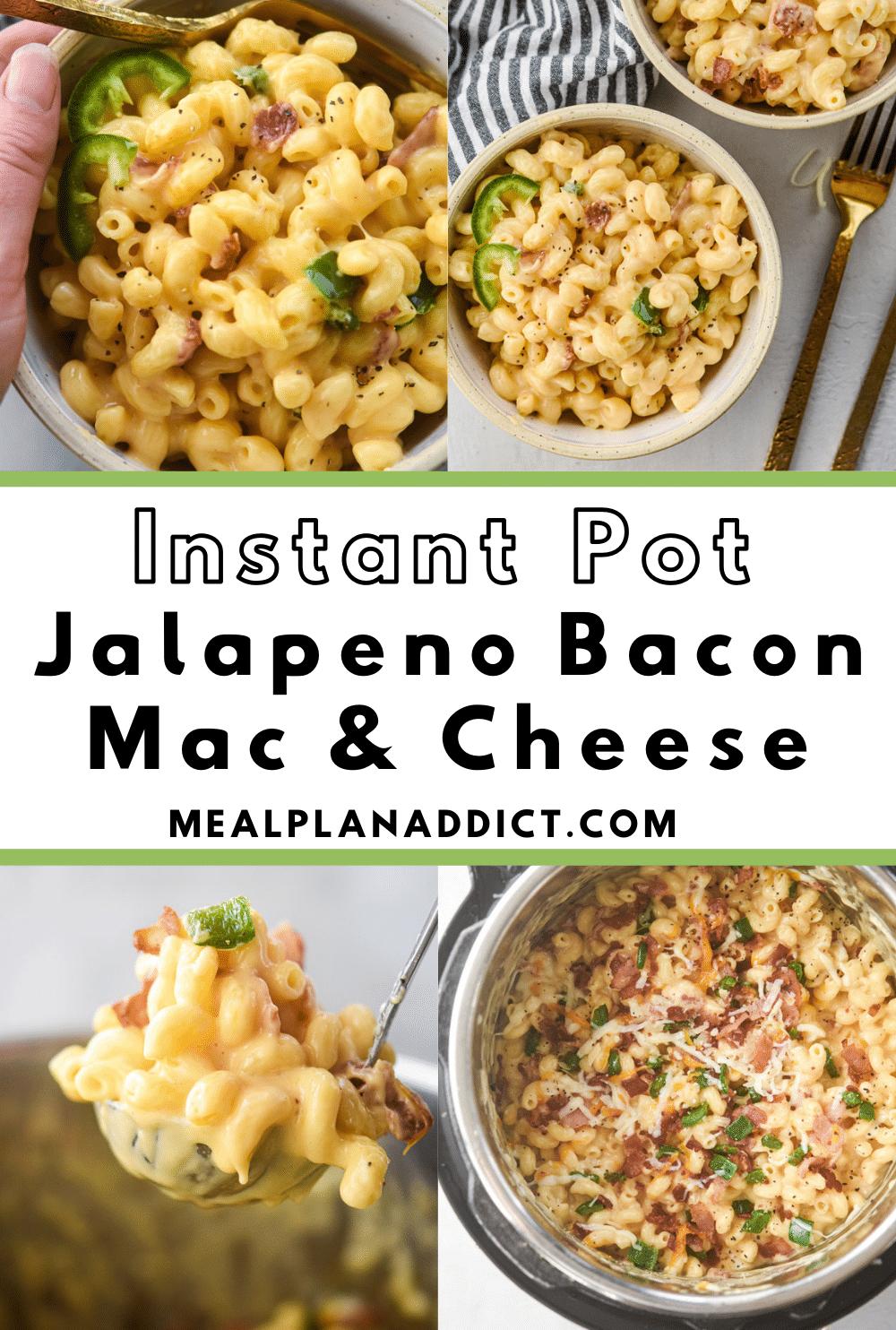 Jalapeno Bacon Mac and Cheese Pinterest Pin image