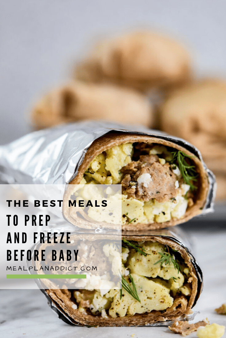 The best meals to prep & freeze before baby