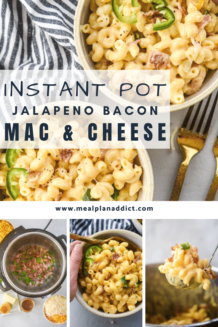 instant pot mac and cheese collage pin