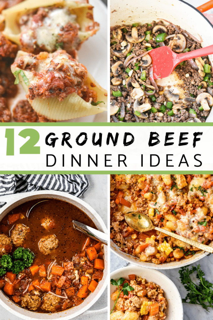 Ground Beef Dinner Idea Round up Collage