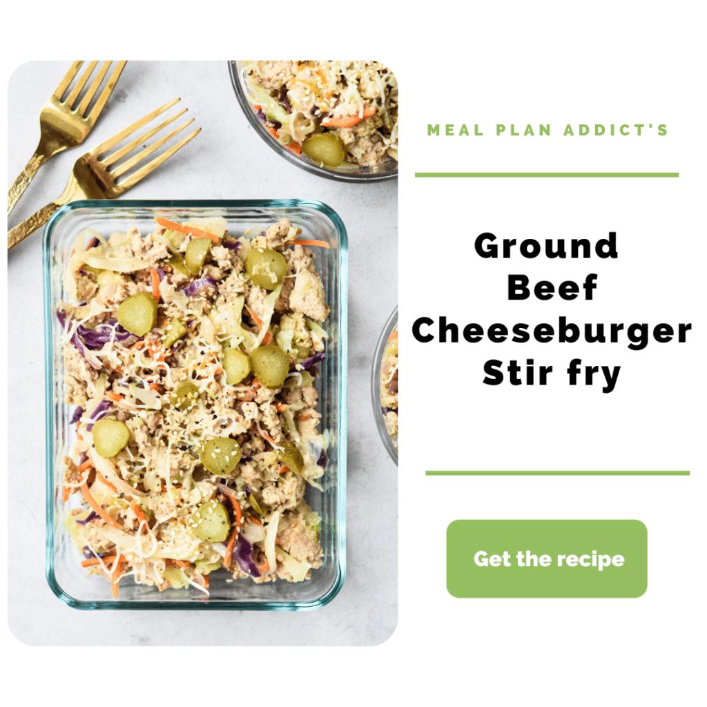 Ground Beef Dinner Ideas_cheesburger stirfry