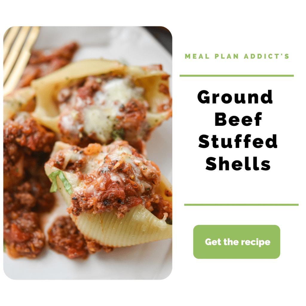 Ground Beef Dinner Ideas_stuffed shells