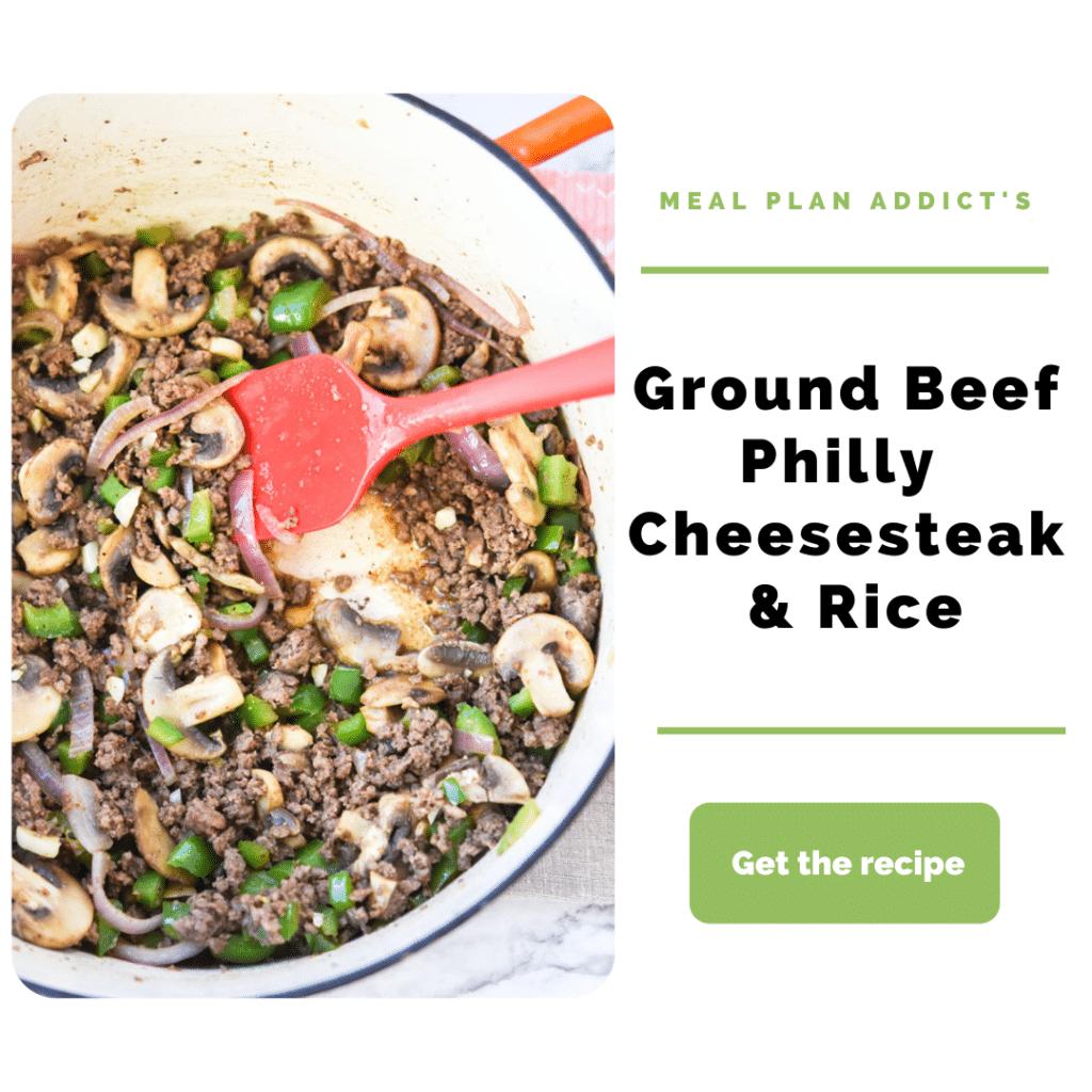 Ground Beef Ideas_philly cheesesteak