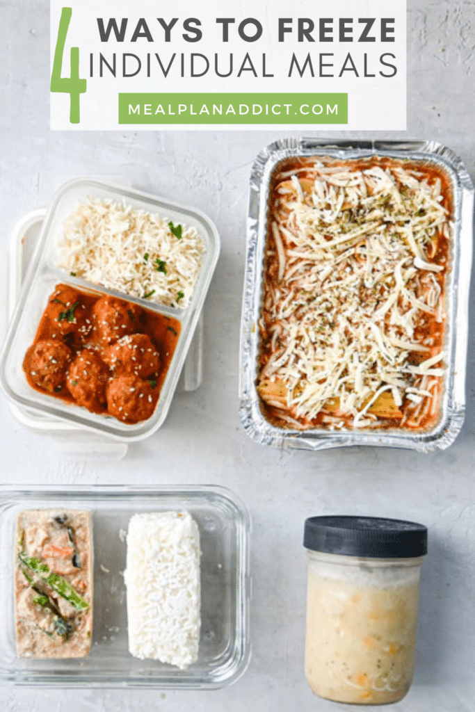 4 ways to freeze individual meals all methods flat lay photo