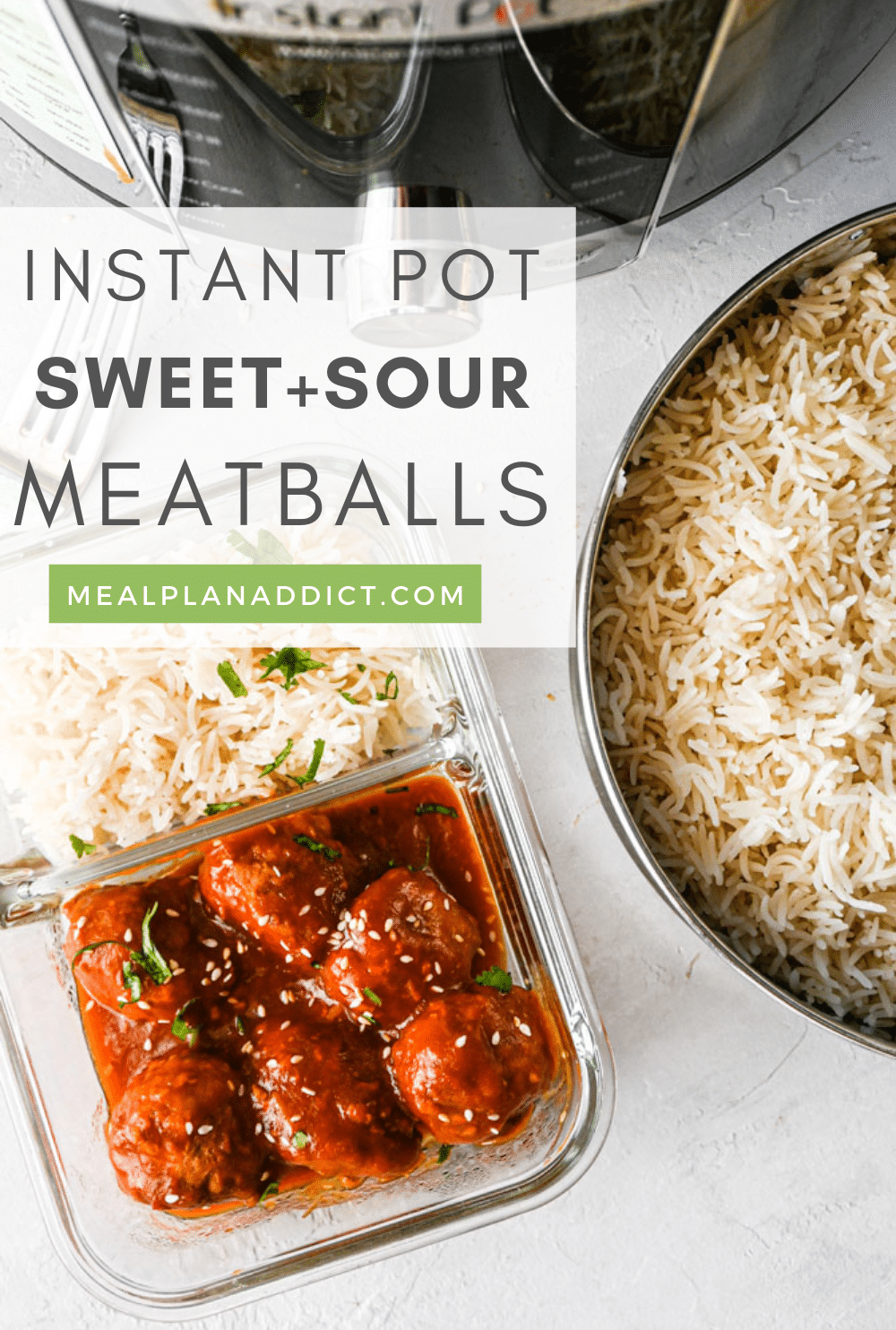 Meatballs with rice pin from Pinterest
