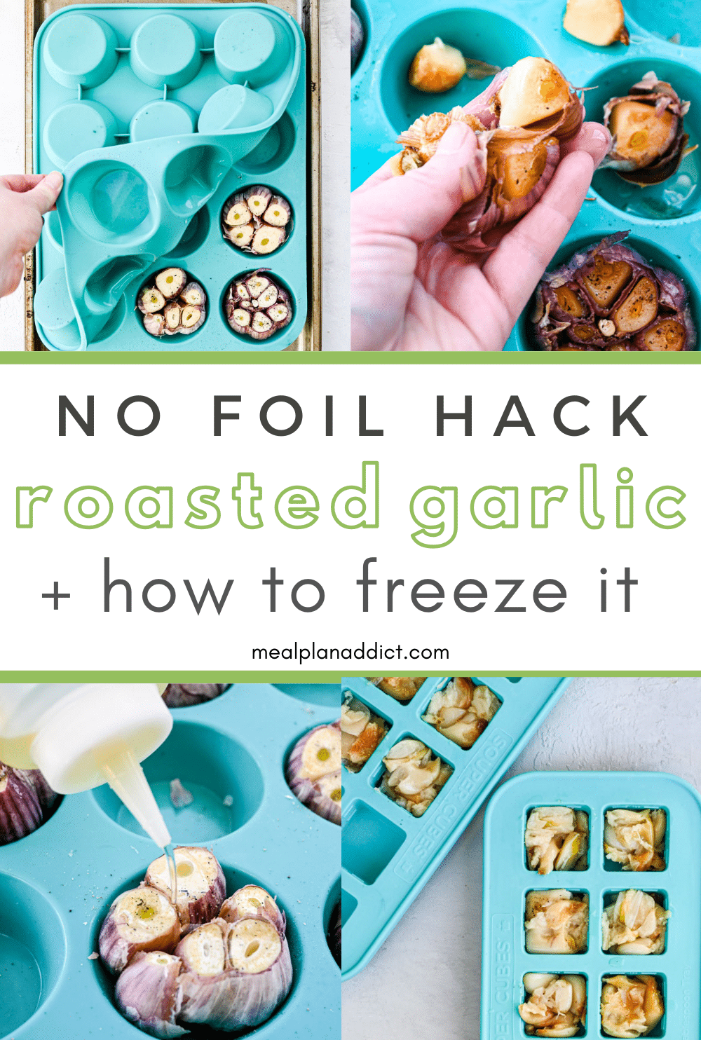 how to freeze roasted garlic pin