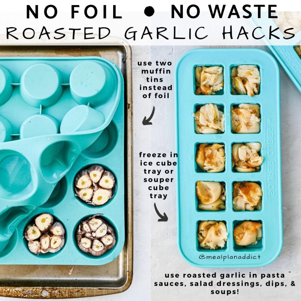 roasted garlic hack instagram image